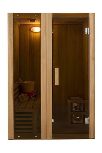 Canadian Cedar Indoor Wet Dry Sauna Steam Room - 3 kW ETL Certified Heater - 2 Person