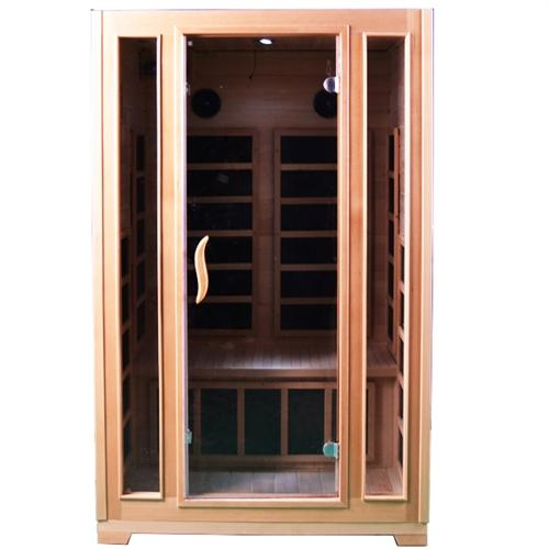 Canadian Hemlock Indoor Dry Infrared Sauna - ETL Approved - 2 Person
