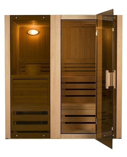 Hemlock Indoor Wet Dry Steam Room Sauna - 4.5 kW ETL Certified Heater - 4 Person