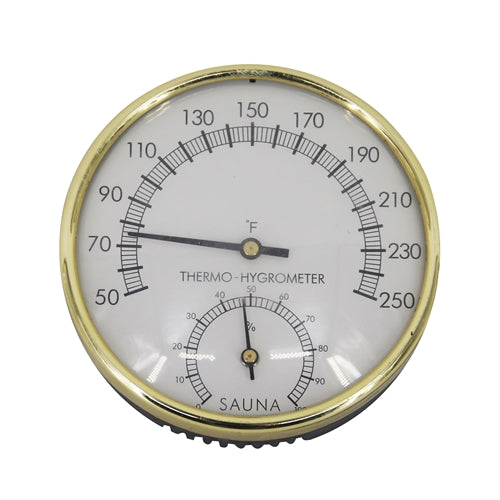 Stainless Steel Thermo-Hygrometer - Temperature Range - 50F to 250F