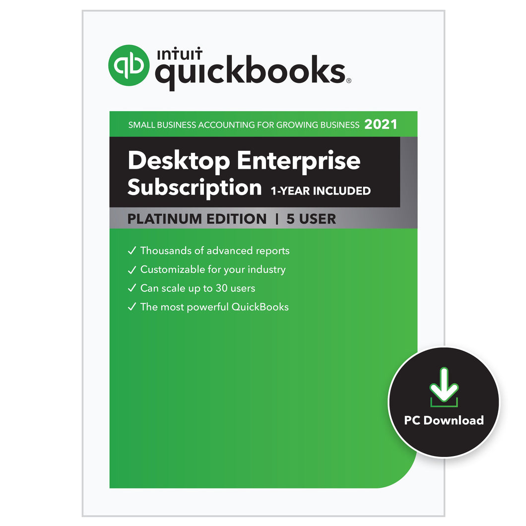 7) QuickBooks Enterprise  - Platinum Annual Subscription - SBS Associates, Inc. provides QuickBooks® Solutions to Small Businesses