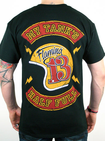 My Tank's Half Full Flaming13 t-shirt