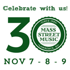 30th Anniversary graphic for Mass Street Music