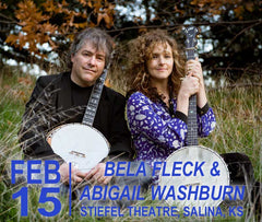 Bela Fleck and Abigail Washnurn concert graphic