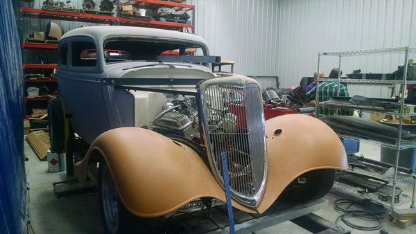 Bill at Collings also works on his vintage autos