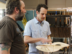 Eric Mardis and Alex R at Collings Guitars