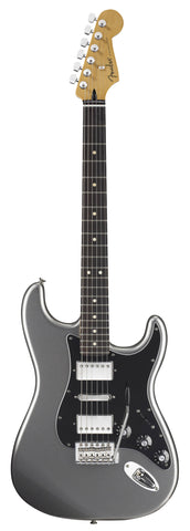 fender blacktop strat hsh guitar titanium finish