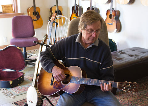Jim Baggett playing a Leo Posch Guitar