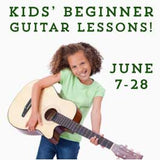 Kid's Beginner Guitar lessons graphic