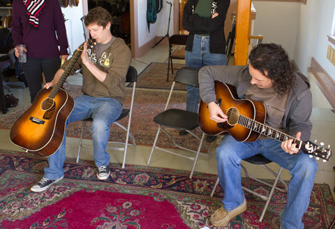 Luthiers Harmon and Runyon with Leo Posch Guitars