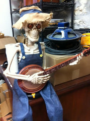 Mass Street Music Halloween Banjo Skeleton