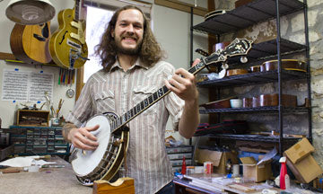 Trey Durkin, luthier at Mass Street Music