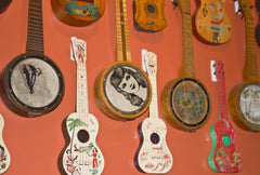 Just part of Collings vintage ukulele collection