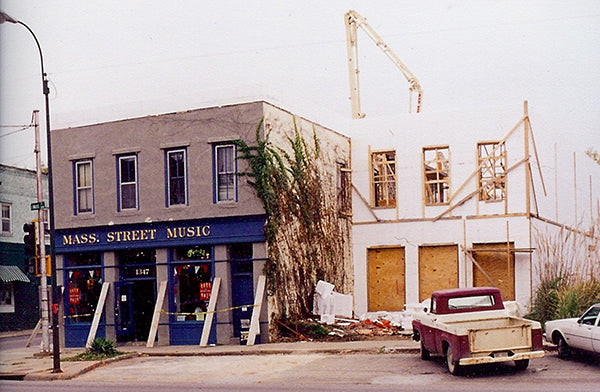 Addition built on to Mass Street Music in the 1999