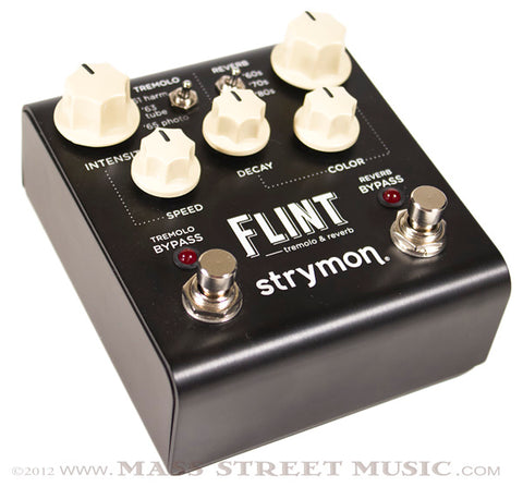 Strymon Flint Tremolo and Reverb Pedal angle