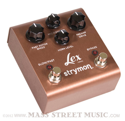 Strymon Lex Rotary Effect Pedal angle view