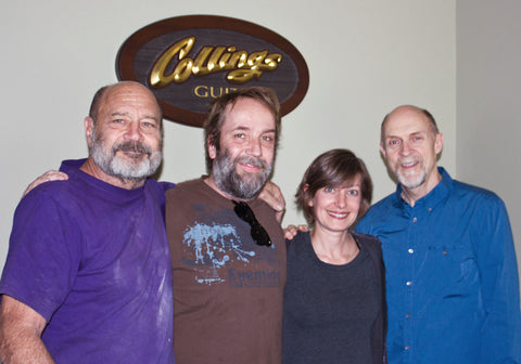 Bill Collings, Anne T, Eric M of Mass Street Music and Steve McCreary at Collings Guitars