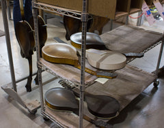Collings Mandolins in build process awaiting finish