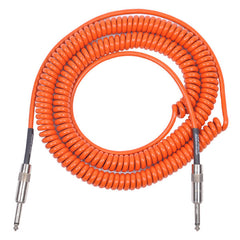 lava orange coily guitar instrument cable