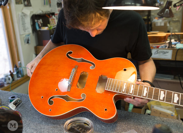 Repair Spotlight: Prepping a Gretsch for new Parts