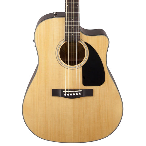 Fender Acoustic Guitars - CD-60CE - Natural - Front Close Stock