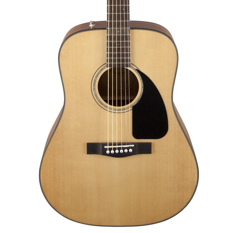 Fender CD-60 Natural Acoustic Guitar - front close