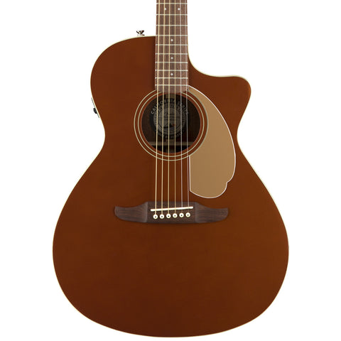 Fender Acoustic Guitars - Newporter Player - Rustic Copper - Front Close