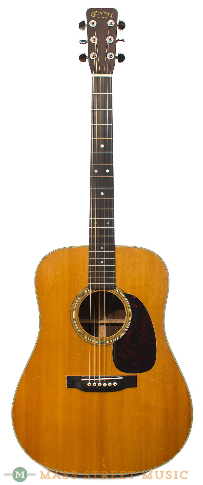 martin d 28 acoustic guitar from 1960 with original hard case mass street music store. Black Bedroom Furniture Sets. Home Design Ideas