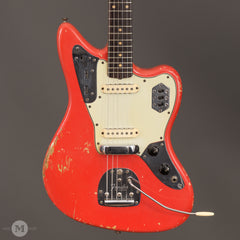 Fender Electric Guitars - 1962 Jaguar - Fiesta Red - Front Close