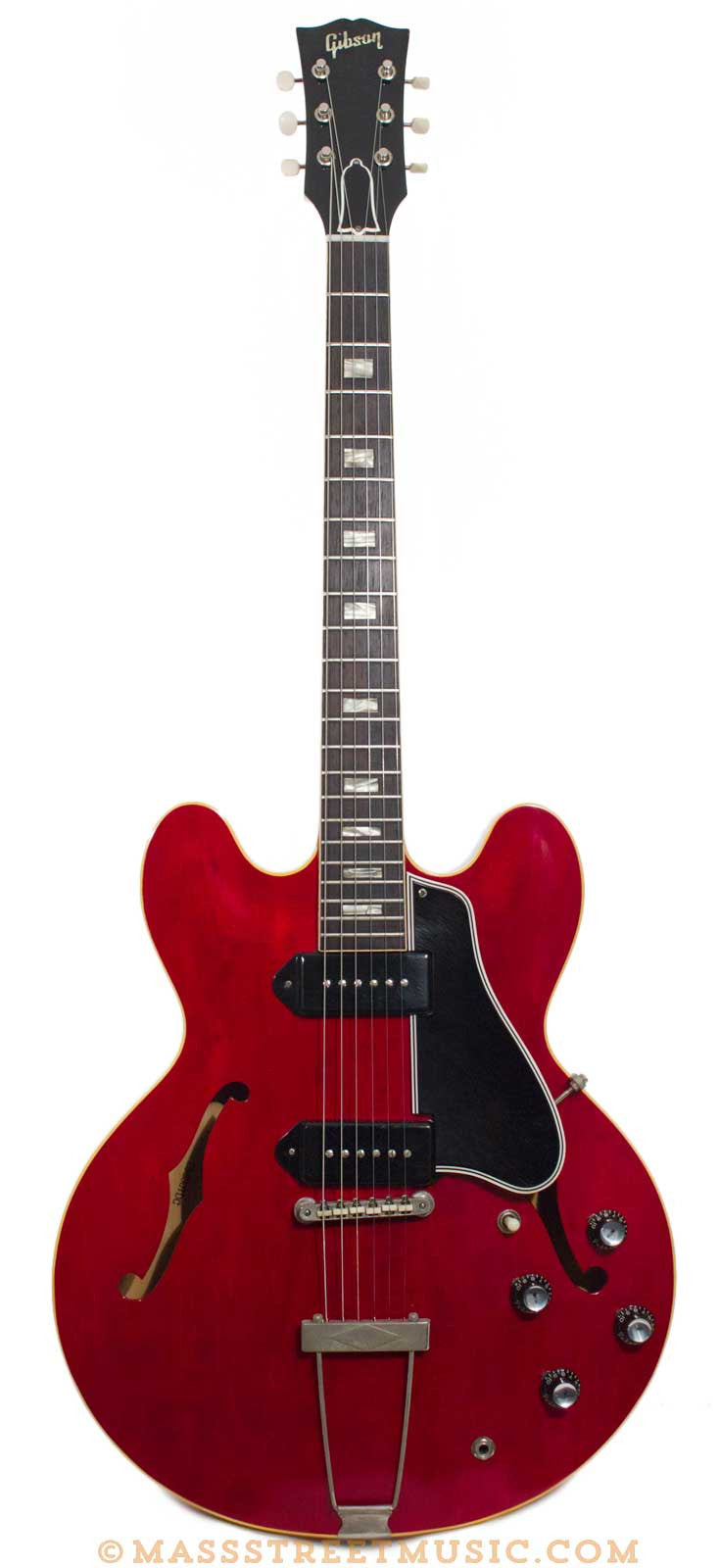 gibson electric guitars 1962 es 330 cherry red excellent plus mass street music store. Black Bedroom Furniture Sets. Home Design Ideas