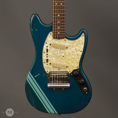 Fender Electric Guitars - 1969 Mustang - Competition Burgundy/Blue