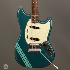 Fender Electric Guitars - 1970 Mustang - Competition Burgandy/Blue - Front Close