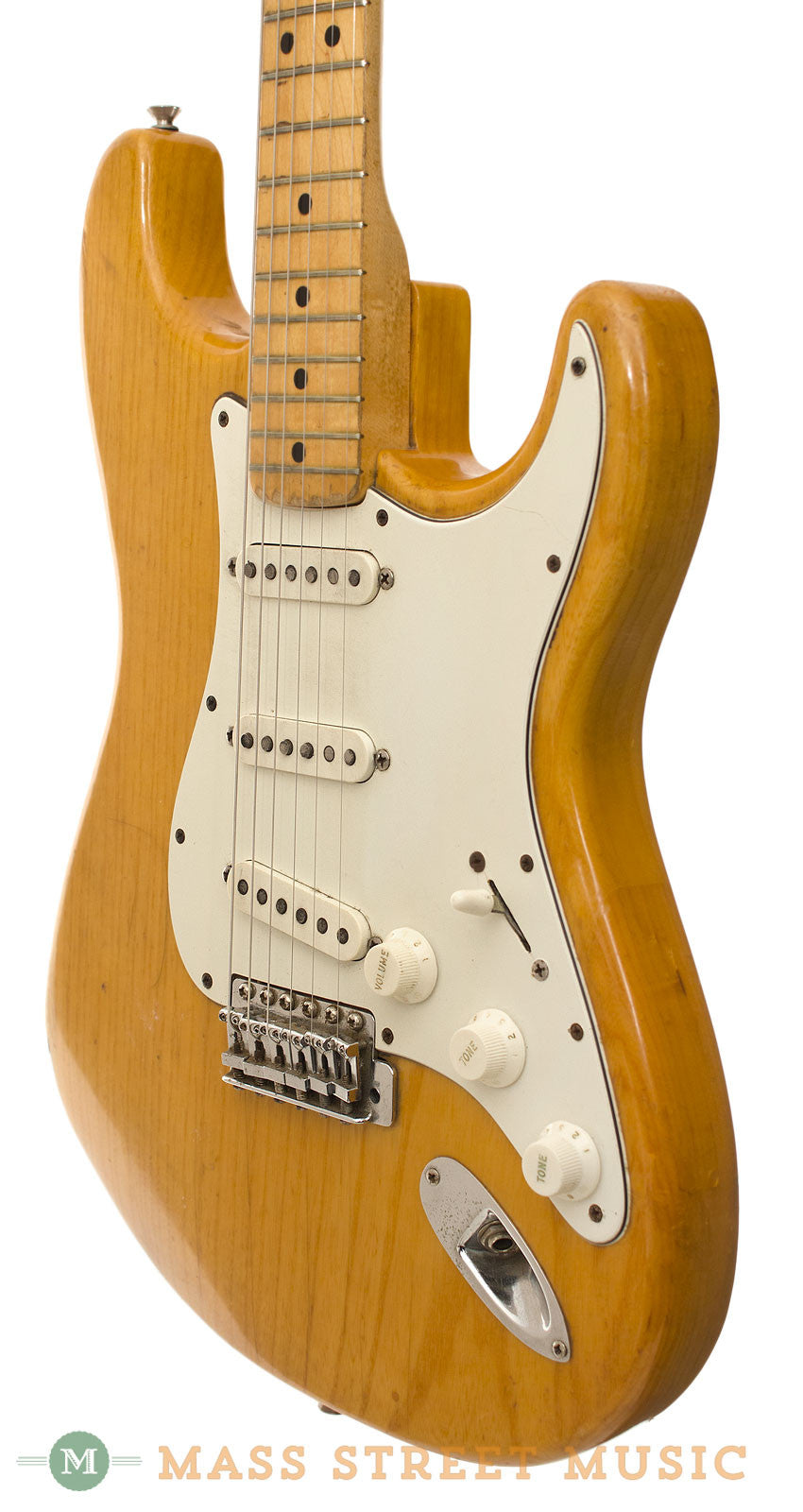 fender stratocaster 1972 electric guitar natural finish with