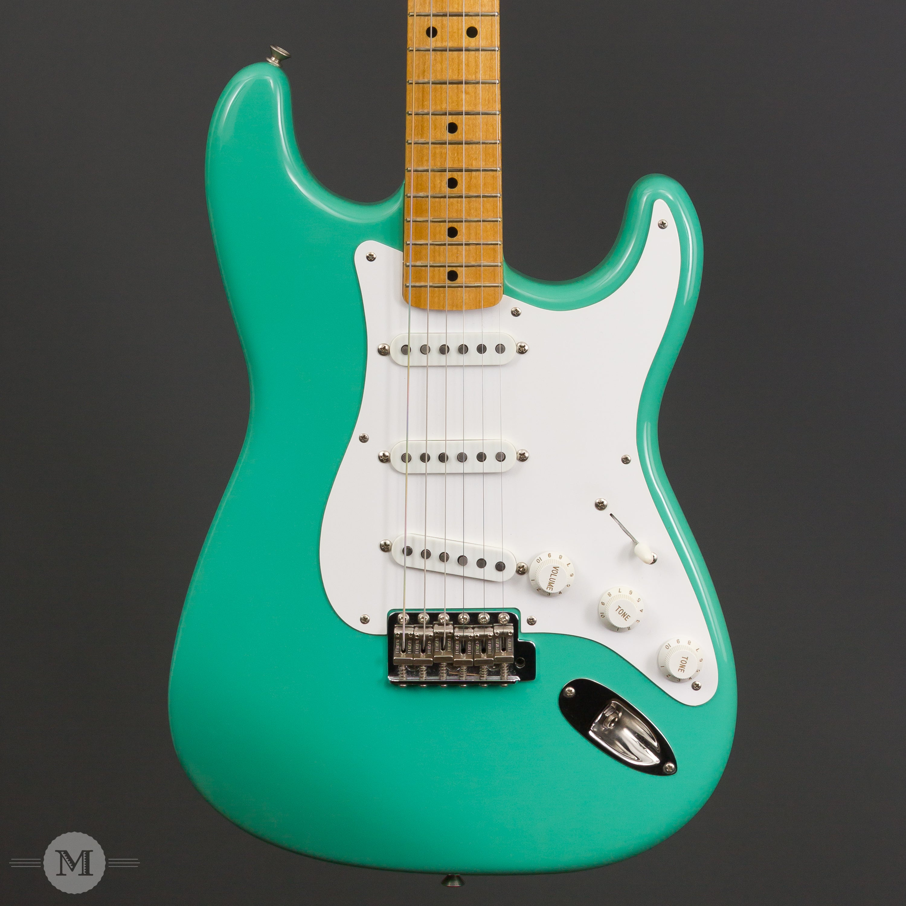 fender guitars 1988 custom shop 57 stratocaster surf green used