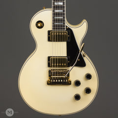 Gibson Guitars - 1988 Les Paul Custom - White with Kahler - Used - Front Close