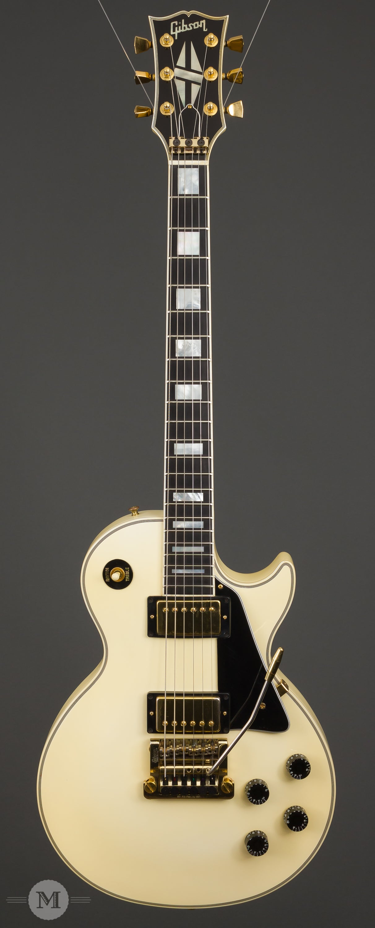 gibson guitars 1988 les paul custom alpine white with. Black Bedroom Furniture Sets. Home Design Ideas
