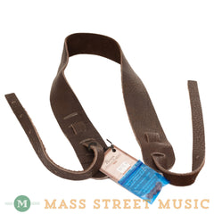 "Lakota Leathers - 2"" Bison Banjo Strap - Chocolate"