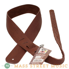 "Lakota Leathers - 2"" Bison Guitar Strap - Chocolate"