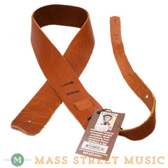 "Lakota Leathers - 2"" Bison Guitar Strap - Tobacco"