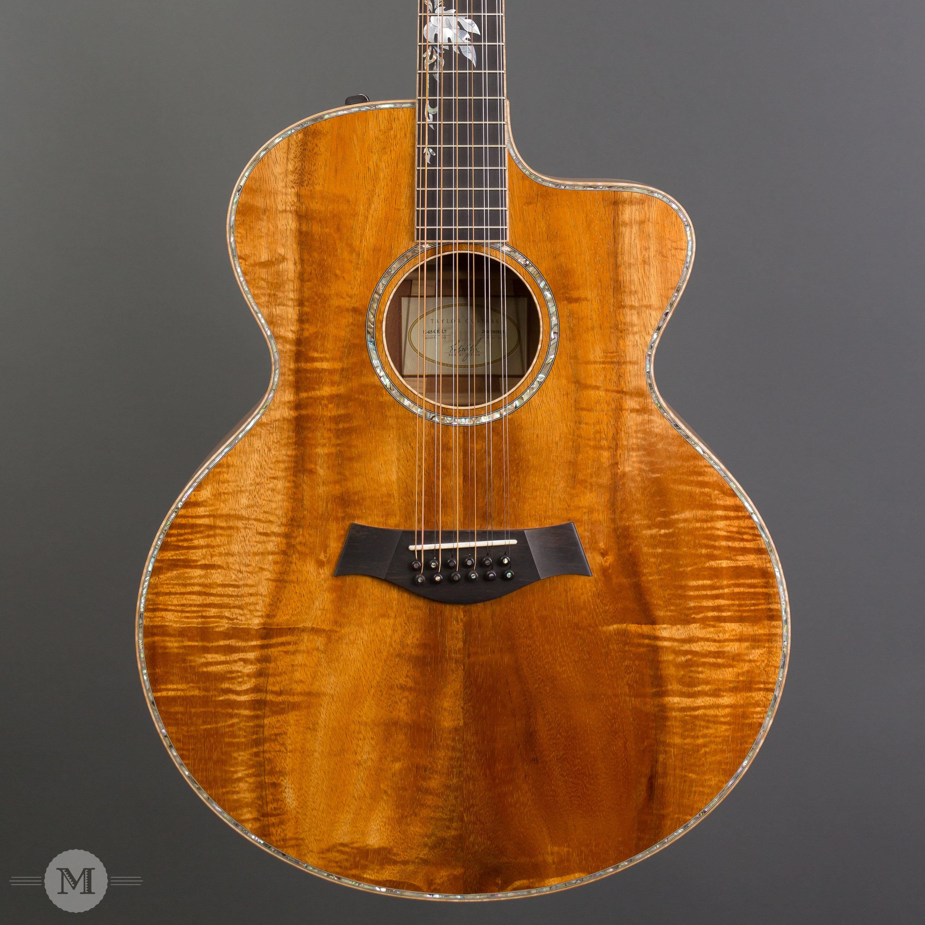 taylor guitars 2004 k65ce l7 12 string tropical vine inlay used mass street music store. Black Bedroom Furniture Sets. Home Design Ideas