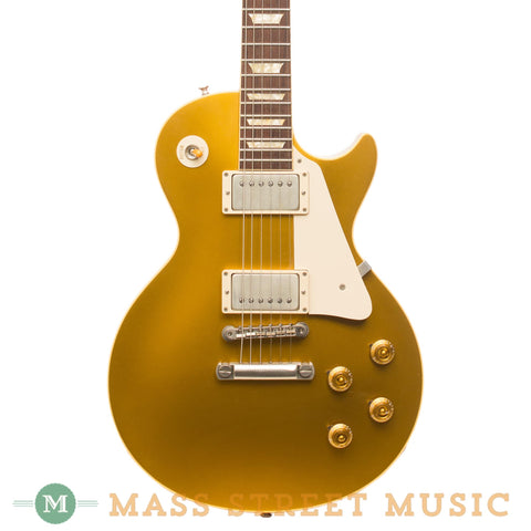 Gibson Electric Guitars - 2004 Les Paul '57 Reissue Gold Top Used - Front Close