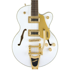 Gretsch Electric Guitars - Ltd. Edition G5655TG-LTD Electromatic Centerblock Jr. Single Cut - Snow Crest White - Front Close