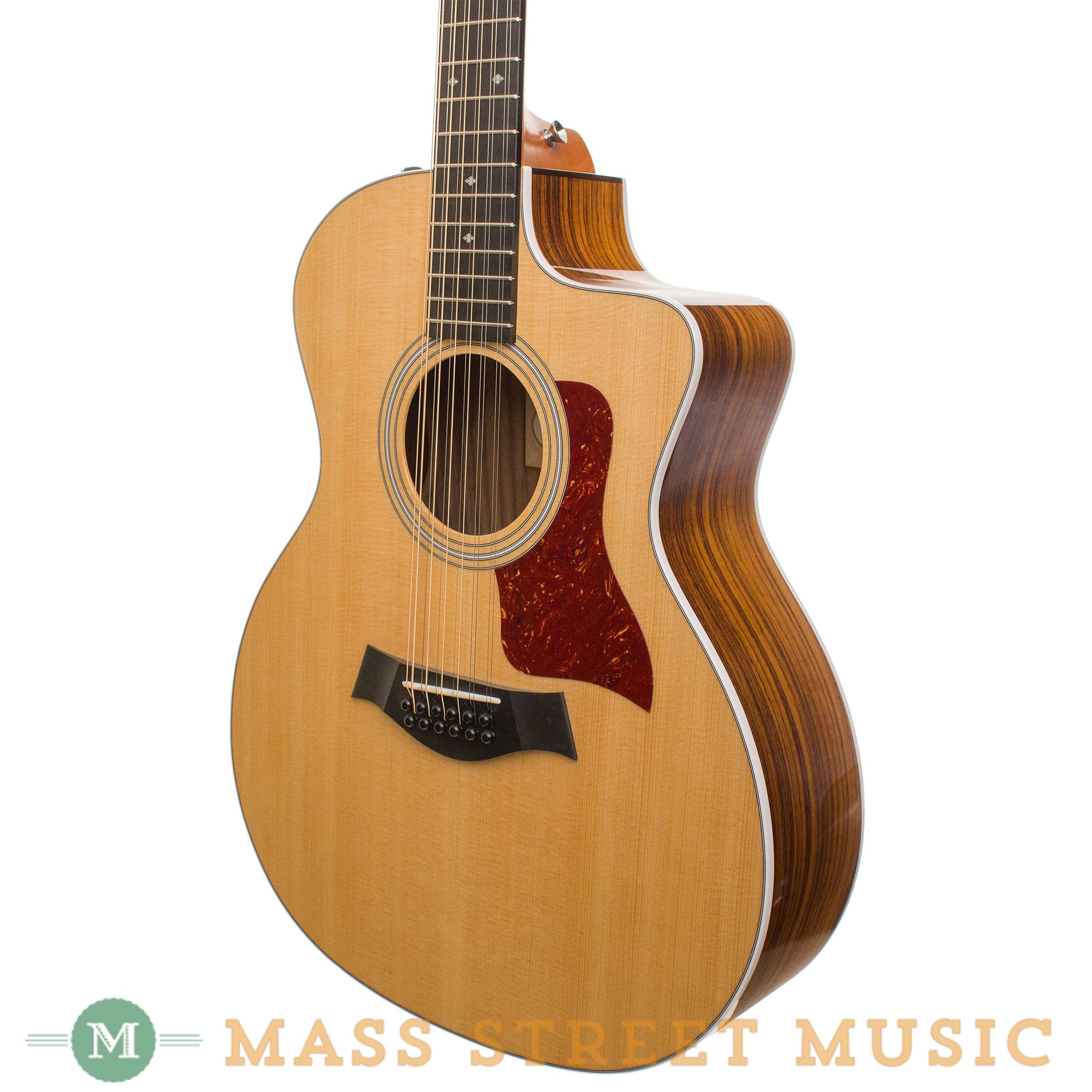 taylor acoustic guitars 254ce dlx 12 string mass street music store. Black Bedroom Furniture Sets. Home Design Ideas