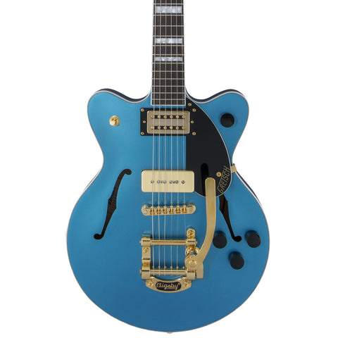 Gretsch Electric Guitars - Ltd. Edition G2655TG Streamliner Centerblock Jr. P90 - Riviera Blue Stain - Front