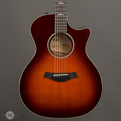 Taylor Acoustic Guitars - 614ce V-Class Limited Quilted Maple - Desert Sunburst - Front Close
