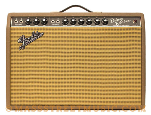 "Fender '65 Deluxe Reverb ""Fudge Brownie FSR Electric Guitar Amp - front"