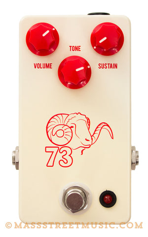 JHS '73 Ram's Head Overdrive Pedal - top
