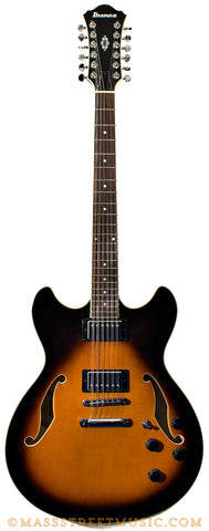 Ibanez AS7312 12-string Sunburst Electric Guitar - front