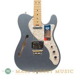 Fender - American Elite Telecaster Thinline - Mystic Ice Blue - Front Close