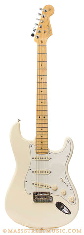 Fender American Standard Strat Olympic White Electric Guitar - front